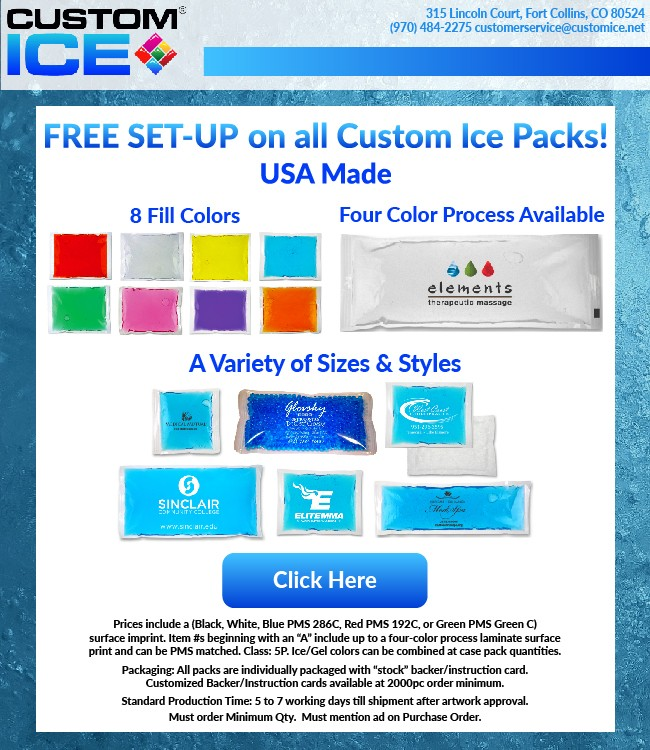 Free Set Up on all Custom Ice Products!