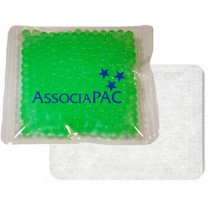 "Cloth-Backed, Gel Beads Cold/Hot Therapy Pack (4.5""x 4.5"")"